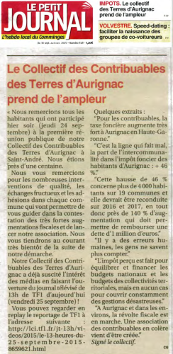 Le Petit Journal 30 septembre 2015